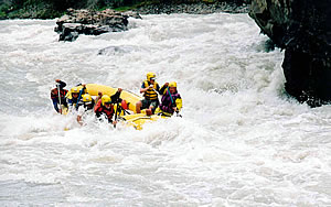 River Rafting on the Chuya River in Siberia