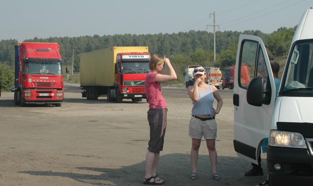 A stop along the Chuyskiy Trakt